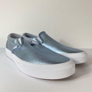 Vans Classic Slip-On Metallic Gray Dawn Sneakers